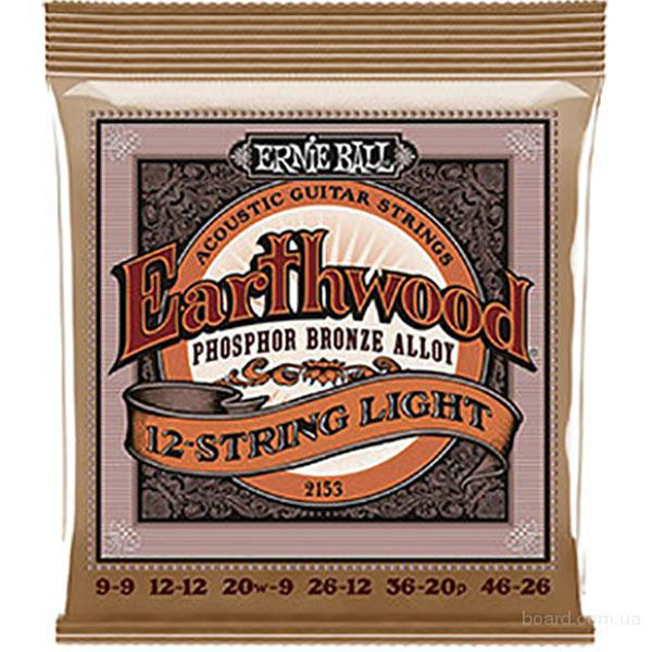 Струны Ernie Ball Earthwood 2153 Phosphor Bronze 12-String 9-46
