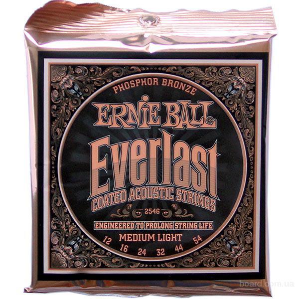 Струны Ernie Ball Everlast Coated Phosphor Bronze 2546 12-54 Medium Light