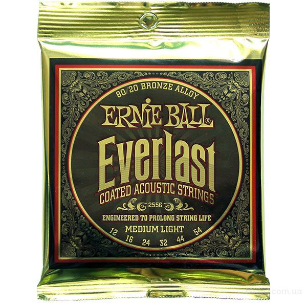 Струны Ernie Ball Everlast Coated 80/20 Bronze Alloy 2556 12-54 Medium Light