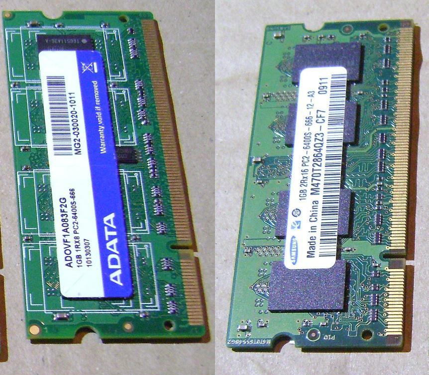 ОЗУ DDR2 1GB SO-DIMM 800МГц  6400 (ноутбучная)