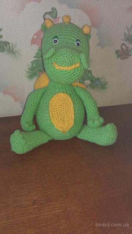 Продается вязаная игрушка-дракончик (ручная работа)