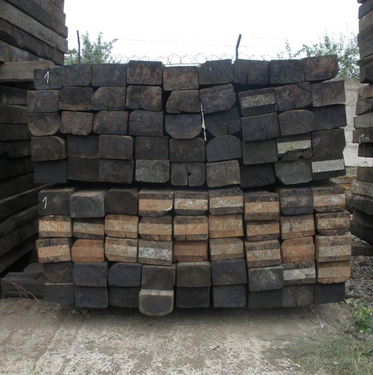 Продаются деревянные шпалы б/у, строительная, на дрова