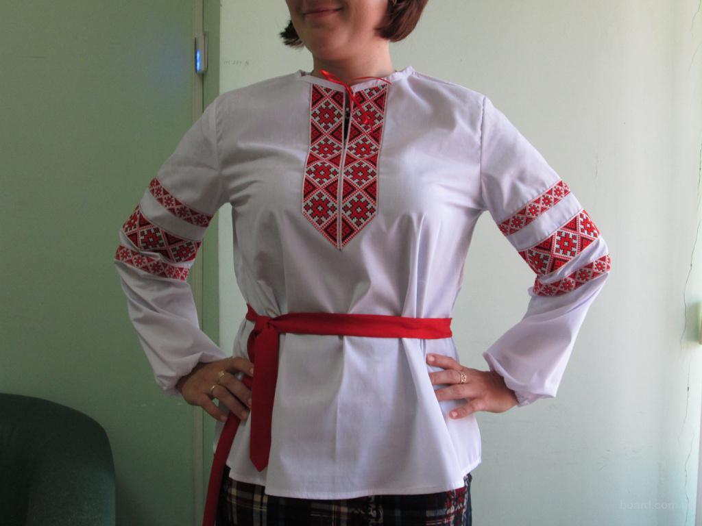 вышитая сорочка, вышиванка,рубашка с вышитой тесьмой,национальна