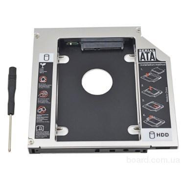 Оптибей (Optibay) caddy карман 9,5/12,7 мм mSATA-SATA, IDE-SATA для второго HDD\SSD