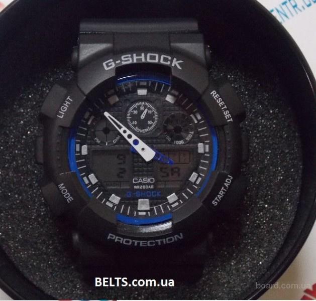Украина.Мужские наручные часы Casio G-Shock (Касио Джи Шок) - черно-синие