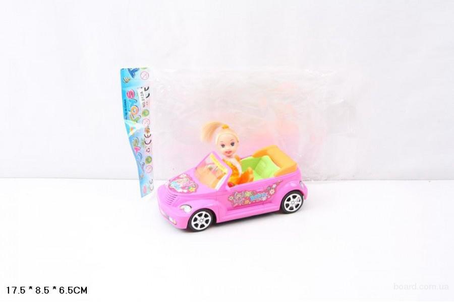 Куколка с машиной в пакете