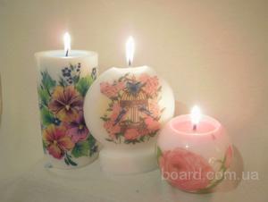 Парафиновые свечи ручной работы