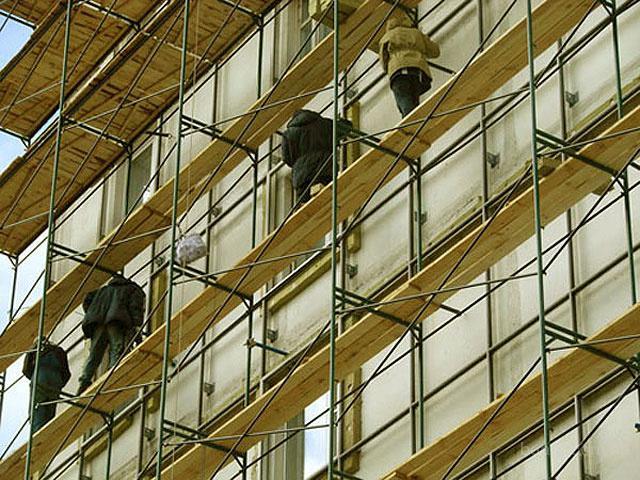 Леса рамного типа облегченные и усиленные для фасадных работ