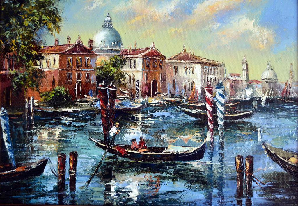 Картина Венеция. Холст, масло, мастихин