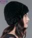 Меховая женская шапка из вязанной норки