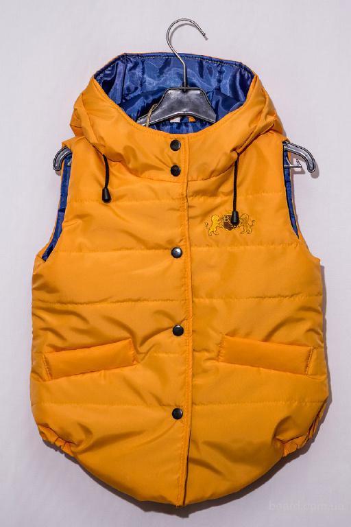 """Демисезонный жилет для мальчиков и девочек """"Orange"""" от производителя детской одежды ТМ B&R"""