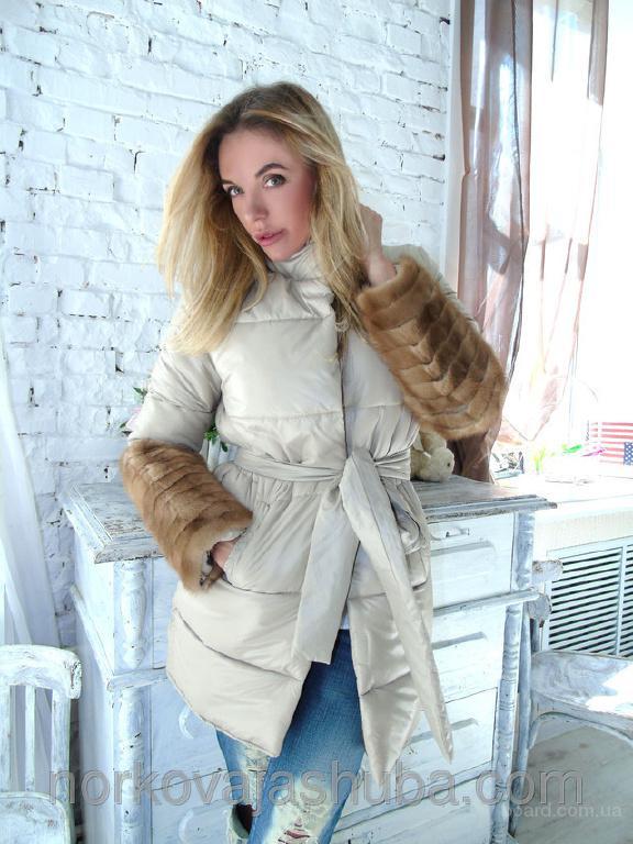 Куртка парка с мехом норки