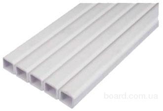 Труба квадратная пластиковая 22 х 22 мм для ниппельных систем поения. Цена за м/пог
