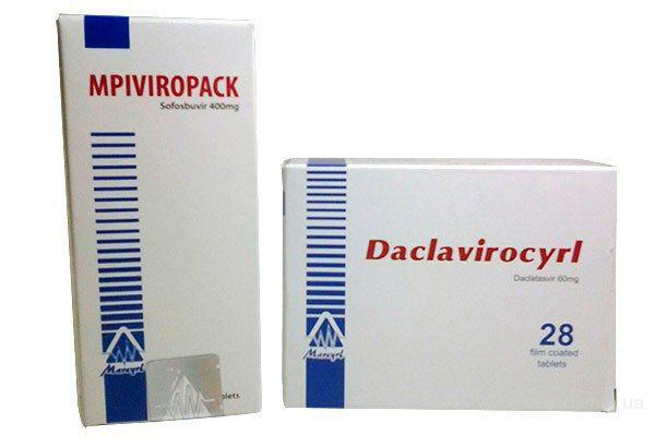 Виропак + Даклавироцирл (Софосбувир 400 мг + Даклатасвир 60 мг) Цена 230$