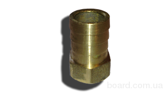 Латунный Штуцер 20 мм , с внутренней резьбой 1/2 под шланг 18 мм