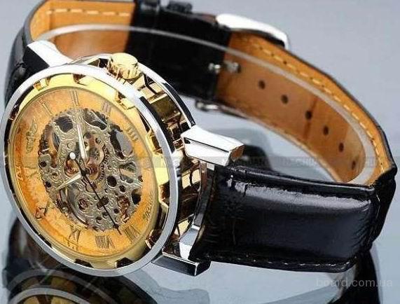 Надёжные механические часы Skeleton Winner