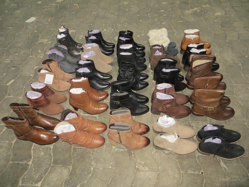 Новая женская обувь D. Stiefeletten Mix. Кожа. Размеры: 36 - 42. Лот 25 пар. Цена 15 евро/пара.