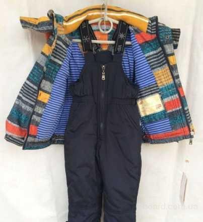 демисезонный комбинезон на мальчика  куртка штаны, яркие цвета