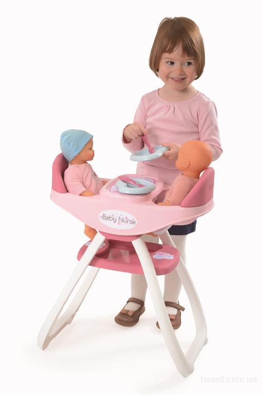 Стульчик для кормления кукол Близнецов 2 в 1 Baby Nurse Smoby 24218