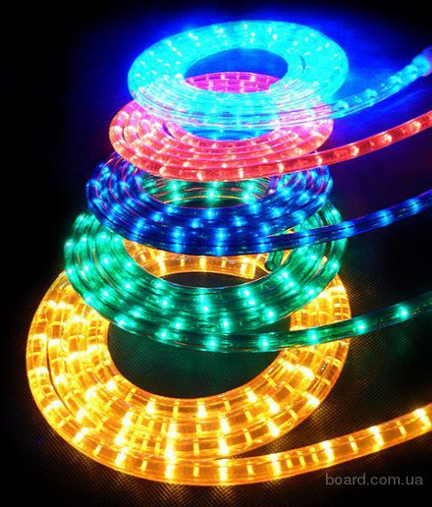 Гирлянды нити, дюралайт, светодиодные нити и ленты для иллюминации