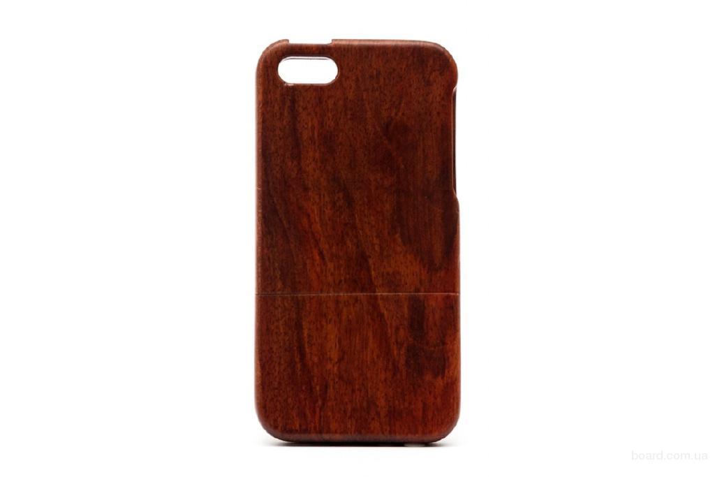 Раскладной деревянный чехол  для iPhone 5 та 5S Макорэ