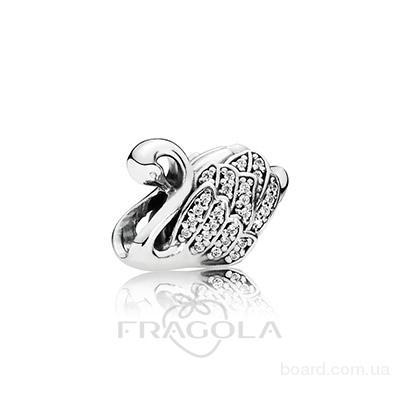 Шарм Pandora Царевна лебедь, серебро 925, кубический цирконий. Украшения Пандора от магазина Fragola, бесплатная доставка, цена