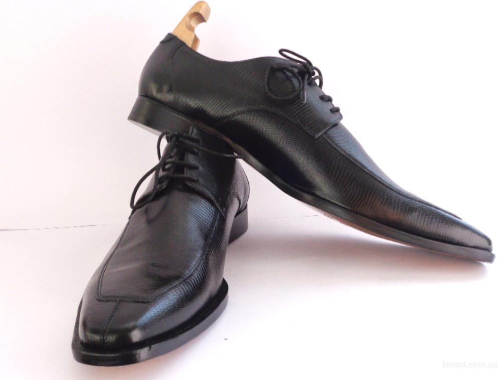 Туфли модельные кожаные Merlin & Hamilton (ТУ – 107) 50 размер