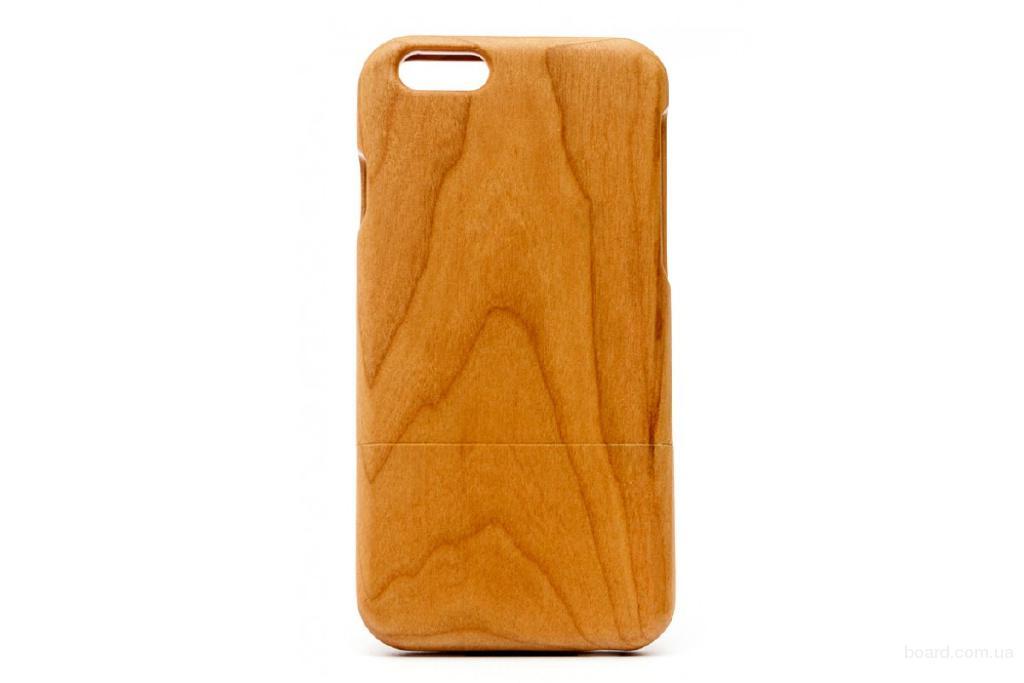 Деревянный розкладний чохол Вишня для iPhone 6 та 6S