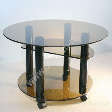 Стеклянные столы и зеркала с коваными элементами