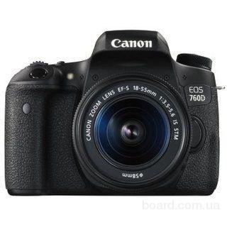 Зеркальный фотоаппарат Canon EOS 760D Kit (18-55mm) IS STM