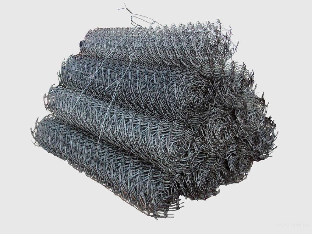 Сетка рабица оцинк 1.7мм яч 57мм выс 1,8м длина 10м - 351 грн