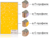 Купить мебельные фасады в алюминиевом профиле по низкой цене