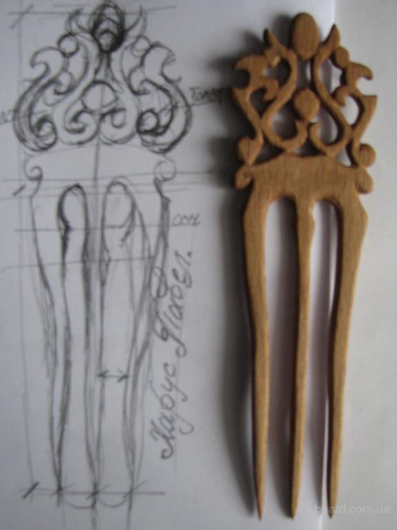 Продам деревянные заколки и гребни вырезанные из ценных пород дерева. Изготовлю под заказ.
