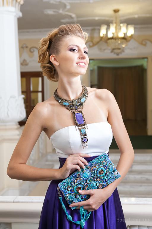 колье ожерелье с ониксом