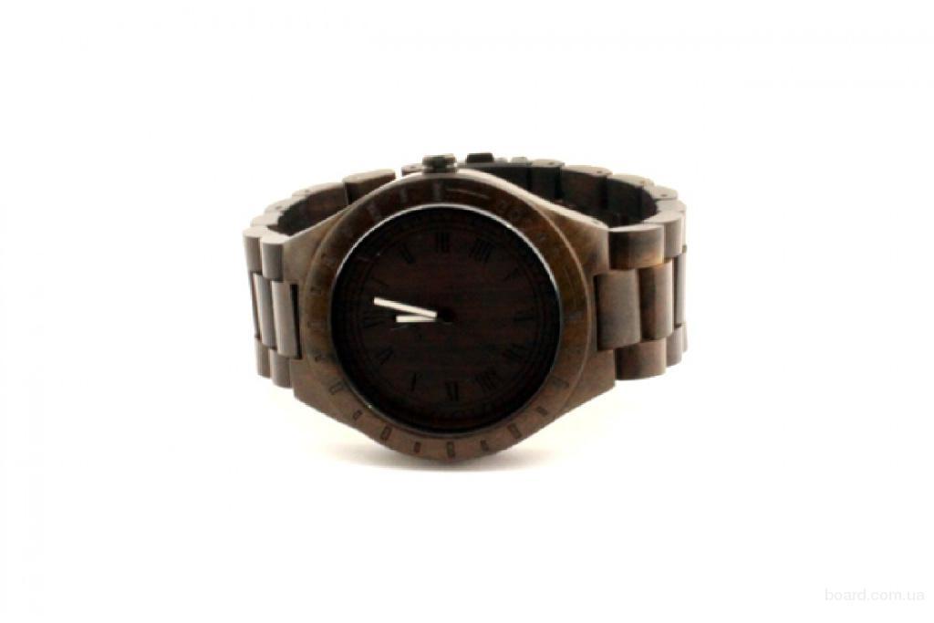Деревянные наручные часы Black Uwood