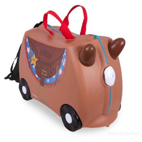 Чемодан детский на колесах Лошадка Бронко Trunki TRU0183