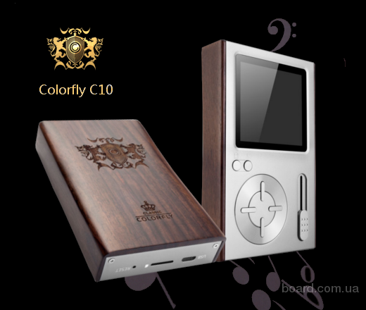 Colorfly C10 новые портативные Hi-Res players, цвет — серебрист. и титан