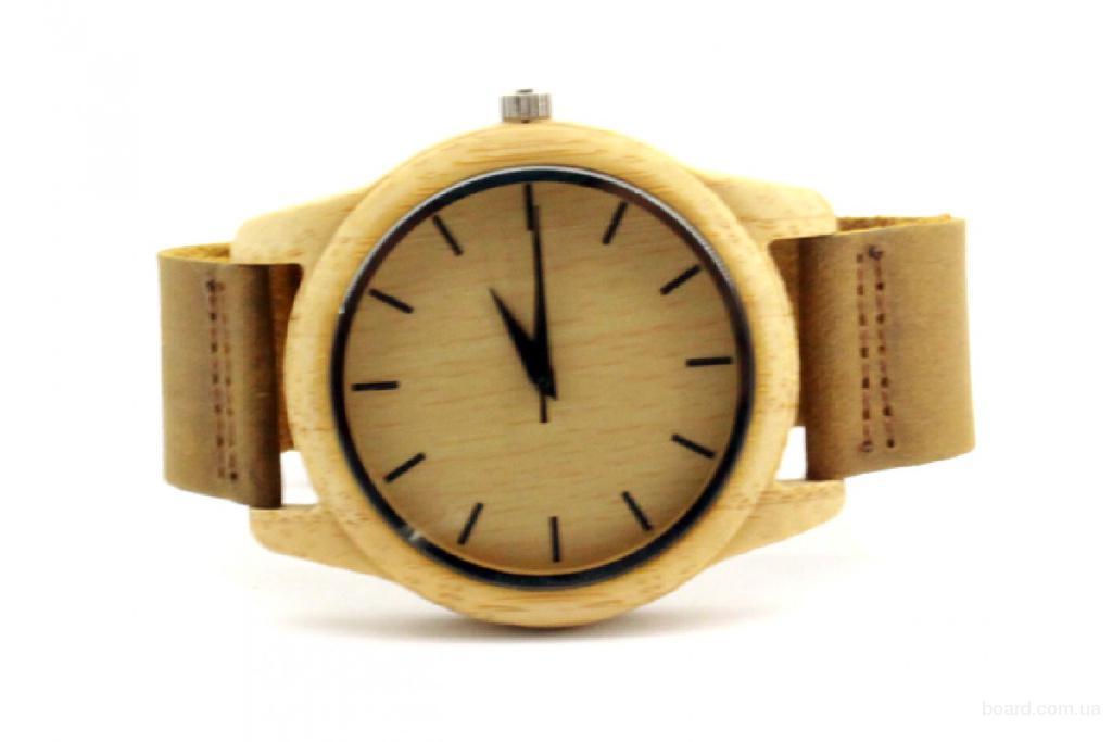 Наручные деревянные часы SkinWood White