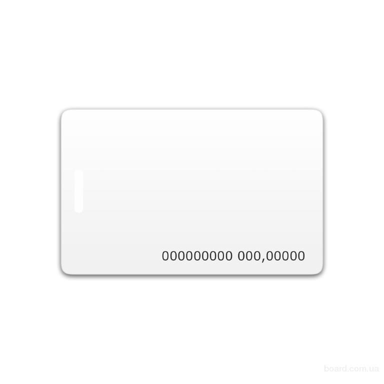 Бесконтактная пластиковая RFID-карта с номером с чипом