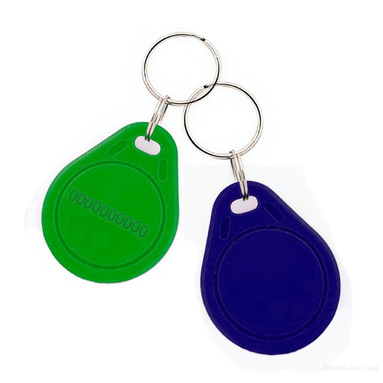 Бесконтактный плоский RFID-брелок с железным кольцом с чипом