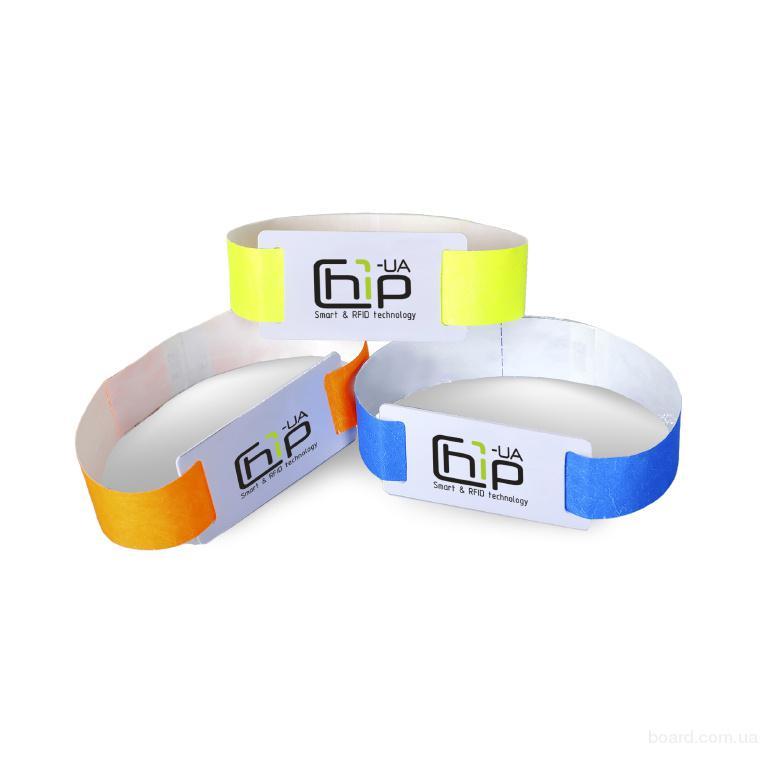 Бесконтактный RFID-браслет с полноцветной печатью на бумажном ремешке с чипом