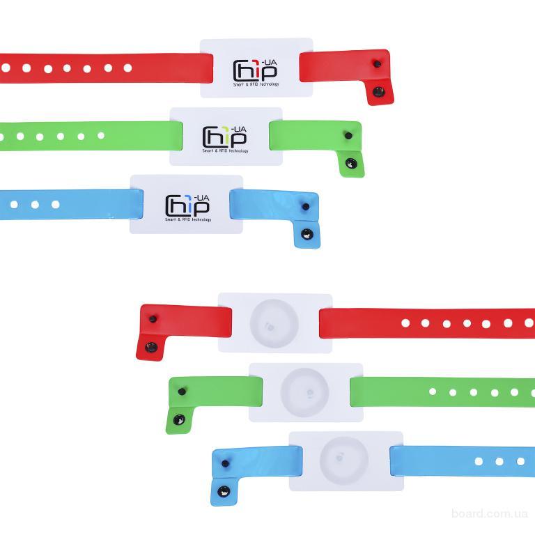 Бесконтактный RFID-браслет с полноцветной печатью на силиконовом ремешке с застежкой с чипом