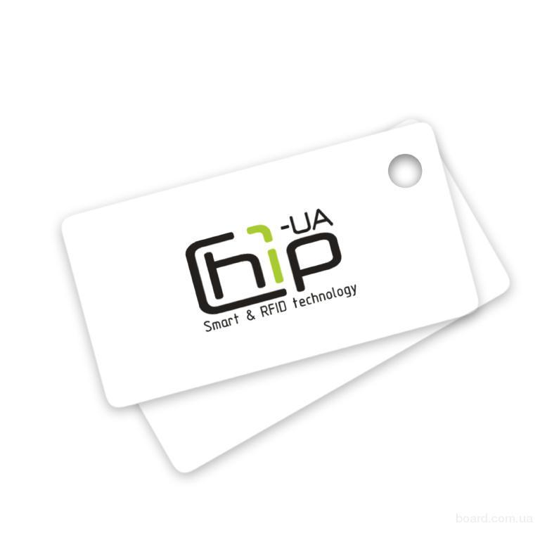 Бесконтактный RFID-брелок с полноцветной печатью с чипом