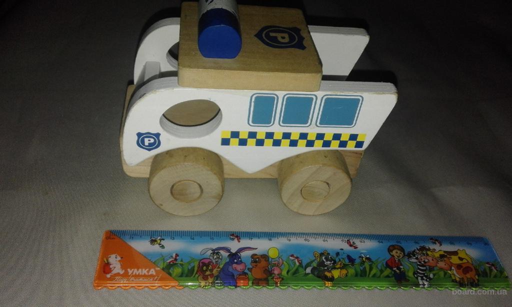 машинка-такси деревянная