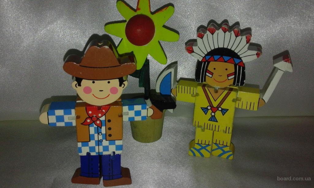 три коллекционные деревянные игрушки одним лотом