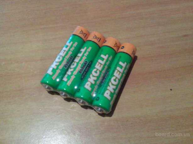 Аккумуляторы ААА с низким саморазрядом pkcell емкостью 850mAh,лучше GP