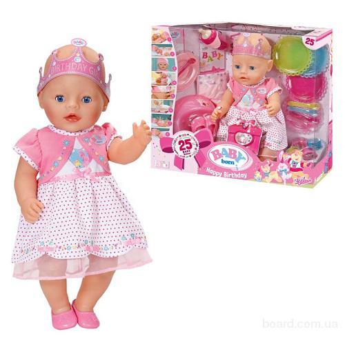 Пупс Baby Born С Днем Рождения Zapf Creation 43 см 822036