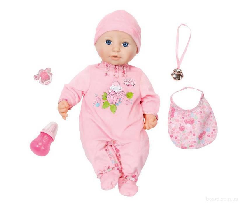 Интерактивный пупс-девочка 43 см.  Baby Annabell Zapf Creation  794401