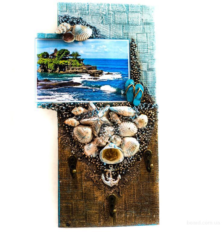 Настенная ключница - Мечты о море, ручная работа  Декор интерьера в морском стиле.