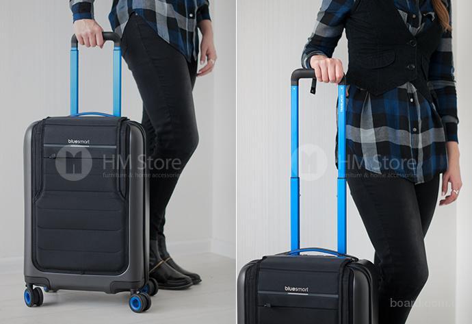 Умный дорожный чемодан на колесах Bluesmart One с USB- портом!
